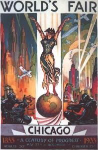 1933 worlds fair poster